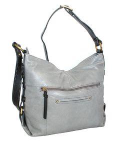 Nino Bossi Handbags Black Heavenly Helen Leather Shoulder Bag | zulily