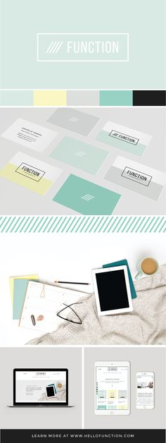 Brand + Web design for Function Creative Co. a brand and web design studio. Click the image to learn more!