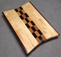 Curly maple and black walnut cutting board by HartmanWoodworks, $80.00