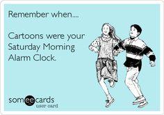 I loved Saturday morning cartoons as a kid! Sweet memories!