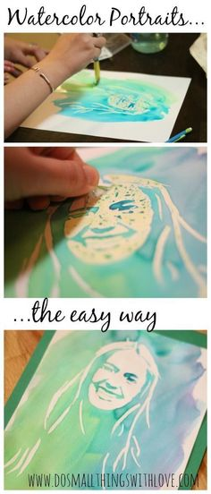 Make a watercolor portrait.