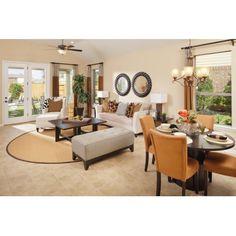 Model Home Decor--open floor plan Entertainment Room Open Floor Plans The