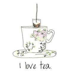 "Something my great grandmother use say ""He loves coffee. I love tea. I love honey and my honey loves me. Tea Quotes, Tea And Books, Cuppa Tea, My Cup Of Tea, High Tea, Drinking Tea, Afternoon Tea, Tea Time, Tea Cups"