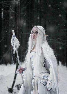 "silvaris: ""winter elf by Lyubov Shipaeva """