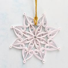 Christmas Snowflake Ornament Snowflake Decorations by Gericards