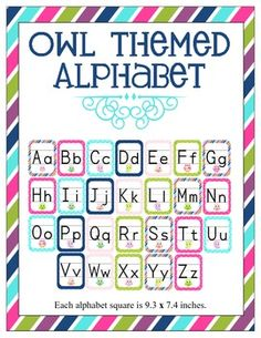 Owl Themed Alphabet!