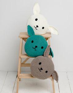 Passioknit Mini Bunny Pouf Project--free pattern!