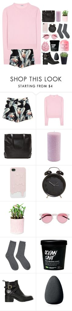 """""""life makes sense when I'm with you"""" by maheroo ❤ liked on Polyvore featuring Miu Miu, Root Candles, Illesteva, Shay, Carvela Kurt Geiger, Christian Dior, Zara Home, country and tmi"""
