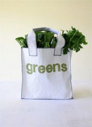 Fused plastic reusable grocery bags! Perfect! That's what I was making them to avoid more of anyway <3