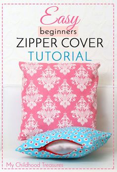 Sewing Pillows how to sew a zippered cushion cover - Store bought cushion covers can be expensive so making your own is not only satisfying but will save you a lot of money. How to make zippered cushion covers Sewing Hacks, Sewing Tutorials, Sewing Tips, Sewing Crafts, Sewing Patterns Free, Free Sewing, Leftover Fabric, Sewing Pillows, Sewing Projects For Beginners