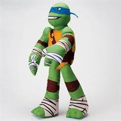 "Teenage Mutant Ninja Turtle Leonardo Cuddle Pillow.  What a wonderful gift to put in the Easter basket.  24"" tall 24.99 while supplies last.  Hurry and get yours today!!"