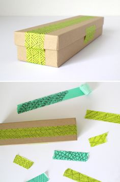 DIY decorative masking tape — Shastablasta wraps presents well