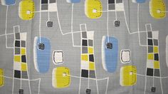 Retro vintage fabric- atomic barkcloth