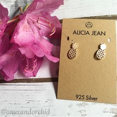 NEW!! Rose Gold Pineapple Studs These rose gold pineapple studs are ADORABLE!! Solid sterling silver, 14k gold plated, & nickel free. 15% off bundles. No PayPal or trades. Please make any offers using the offer button! Thanks! Alicia Jean Jewelry Earrings