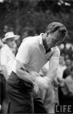 Young Arnold Palmer golf swing..... My favorite golfer of all time!!!!!