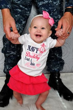 The Navy has my Daddy but I have his Heart shirt by AllRibbonedOut, $18.00
