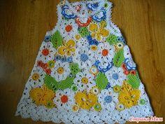 #259 Vestidos de Bebe a Crochet Ruso
