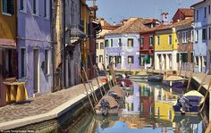 Burano's traditional industry is fishing and used to be its biggest business, and the colours helped workers see