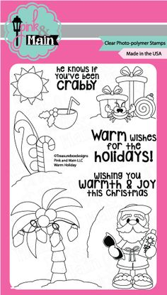 Pink and Main WARM HOLIDAY Clear Stamp Set 021491 at Simon Says STAMP!