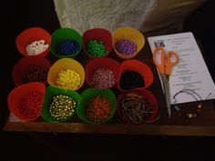 Lord's Prayer bracelet station - one of several prayer station ideas focused around the ACTS way of praying Prayer Crafts, Bible Crafts, Kids Crafts, Craft Projects, Craft Ideas, Toddler Crafts, Sunday School Lessons, Sunday School Crafts, Church Activities