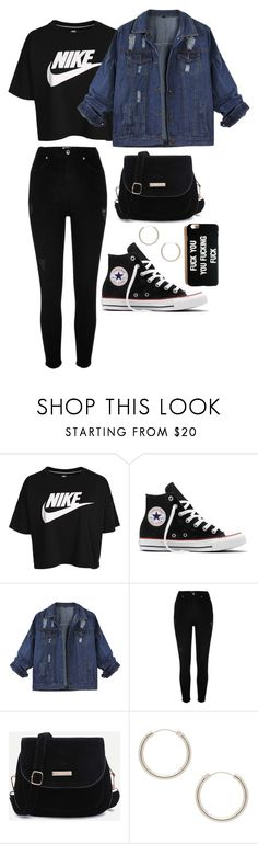 """Sem título #119"" by elo379 ❤ liked on Polyvore featuring NIKE, Converse, River Island and Elizabeth and James"