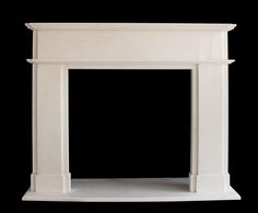 Traditional Fireplace Mantels And Surrounds White Fireplace Surround, Fireplace Mantel Surrounds, Fireplace Frame, Marble Fireplace Mantel, Simple Fireplace, Fireplace Hearth, Marble Fireplaces, Wood Mantle, Mantel Shelf