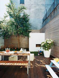 outdoor Living room - Home and Garden Design Ideas outdoor living Outdoor Rooms, Outdoor Dining, Outdoor Gardens, Outdoor Decor, Design Exterior, Interior Exterior, Patio Chico, Outside Living, Garden Spaces