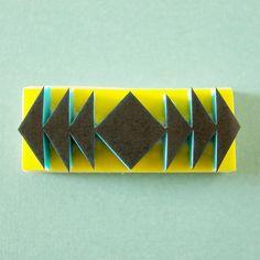 Sello de tribal triángulos sello frontera simétrica tallada