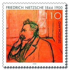 Friedrich Nietzsche auf Briefmarke von 2000