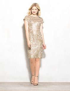 All in favor of a memorable dress that'll be turning heads left and right? We say yes in this oh-so-chic femme sequin number. Add a red lip and get ready to dazzle the night away. Imported.