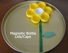 Magnetic Bottle lids Collage