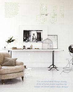 loving this console table styling