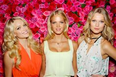 Victoria's Secret models Lindsay Ellingson and Erin Heatherton launch new fragrance in NYC