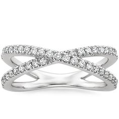 18K White Gold Bisou Diamond Ring (1/3 CT. TW.) from Brilliant Earth