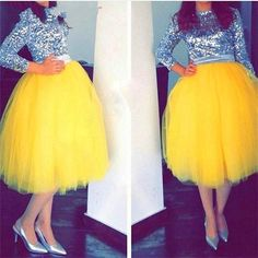 Bright Yellow Tulle Skirts 2016 New Fashion Mid Calf Tutu Skirts For Woman Cheap Prom Party Dresses Custom Made Girls Formal Wear From Sexypromdress, $24.09 | Dhgate.Com