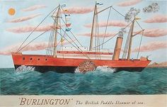 """""""Burlington: The British Paddle Steamer at Sea"""" by Emily Sutton Museum Of Childhood, Boat Art, Life Aquatic, Whimsical Fashion, Bird Sculpture, Blue Whale, Graphic Illustration, Illustrators, Paper Art"""