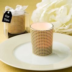 Gold Modern Graphic Design Glass Candle Votive Holder Candle Favors This modern design candle votive is sure to elevate your event tables and give your Gold Candles, Tea Light Candles, Tea Lights, Candle Wedding Favors, Candle Favors, Votive Candle Holders, Votive Candles, Different Wedding Ideas, Modern Graphic Design
