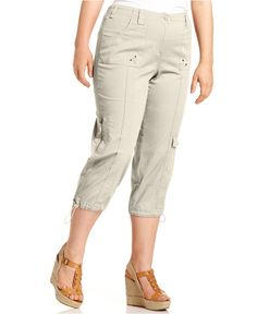 Style & Co. Plus Size Cargo Capri Pants - Pants - Plus Sizes - Macy's