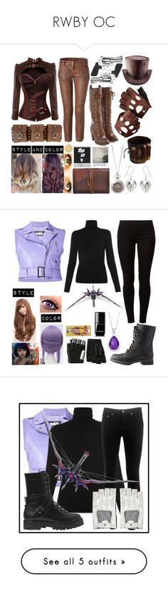 """""""RWBY OC"""" by balancewarlord ❤ liked on Polyvore featuring Dr. Martens, Balmain, Curio, Aspinal of London, Butter London, NOVICA, Jeremy Scott, Majestic, Dorothy Perkins and Charlotte Russe"""