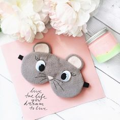 Check out our mouse mask selection for the very best in unique or custom, handmade pieces from our masks shops. Cute Sleep Mask, Mouse Mask, Kids Crafts, Diy And Crafts, Sewing Crafts, Sewing Projects, Delicate Wash, Cute Unicorn, Sewing For Kids