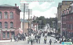 Attica postcard post card - Memorial Day parade, 1907, Attica, NY