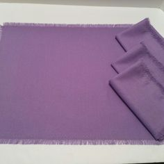 Luscious lavender linen napkins/place mats - freshly hand made!