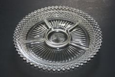 MISS AMERICA Crystal 5 Part Relish Tray Made By Hocking Glass Co 1935 To 1938