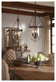 Classic bell chandeliers look great in entries, down hallway or over islands but this one is REALLY affordable. lights