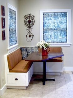Dining Seating Storage Breakfast Nook Corner Banquette And Table