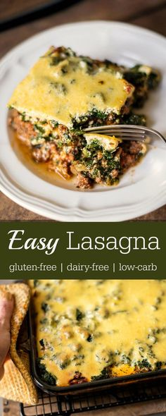 Easy to make and delicious! Easy Lasagna that's gluten-free and dairy-free…