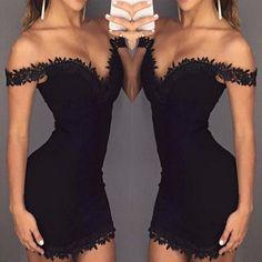 Sexy Lace Dress, Sexy Dresses, Short Dresses, Fashion Dresses, Fashion Shirts, Vestidos Sexy, Black Party Dresses, Summer Dresses, Jasmine Dress