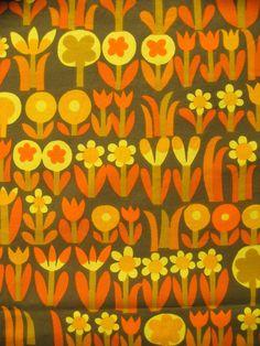 Netherlands based fabric manufacturer, Dekoplus - their surface pattern designers must be appreciated Retro Fabric, Vintage Fabrics, Vintage Prints, Textiles, Textile Patterns, Print Patterns, Motif Vintage, Vintage Patterns, 60s Wallpaper