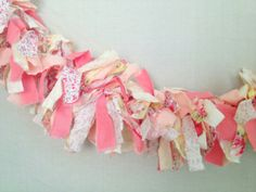 Yellow and Coral Fabric Banner (3 ft)