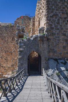 Ajloun Castle, a 12th century medieval Arab castle built to defend the region against the crusaders, Jordan